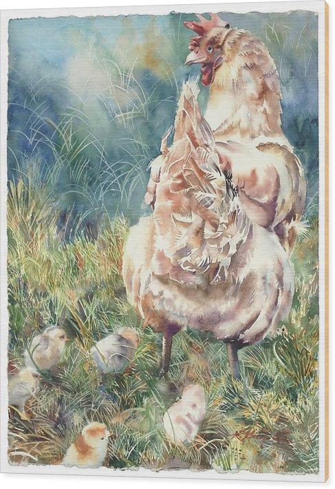 Gathering her chicks by Ruth Allen Nichols