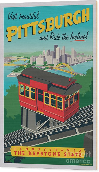 Pittsburgh Poster - Incline by Jim Zahniser