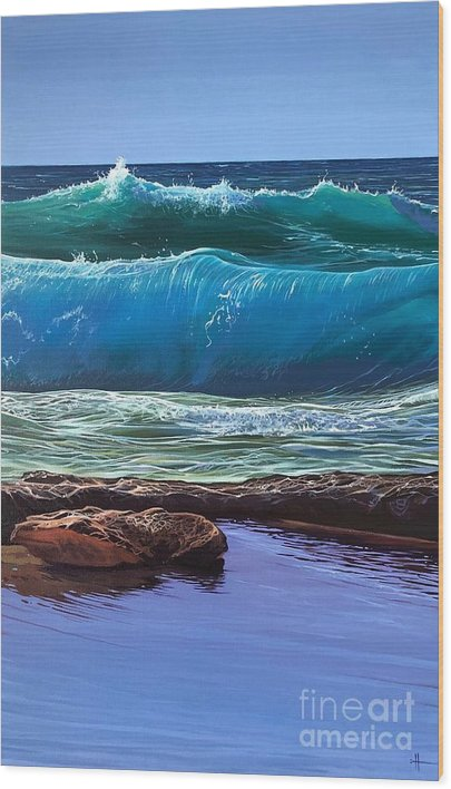 Puerto Vallarta Wood Print featuring the painting Aguas de Marco by Hunter Jay