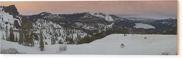 Wood Print featuring the photograph Donner Panoramic by Adam Blankenship