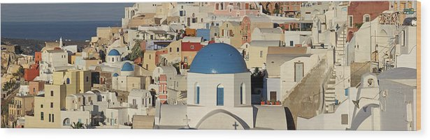 Tranquility Wood Print featuring the photograph Oia Architecture by Sandra Kreuzinger