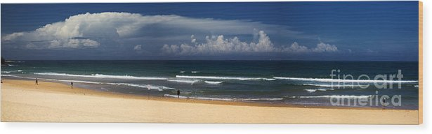 Manly Beach Wood Print featuring the photograph Manly Beach panorama by Sheila Smart Fine Art Photography