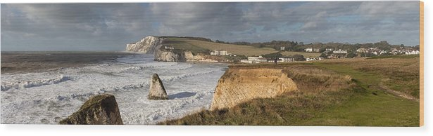 Tranquility Wood Print featuring the photograph Freshwater Bay panorama by s0ulsurfing - Jason Swain