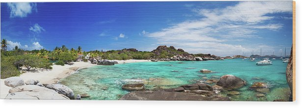 Scenics Wood Print featuring the photograph Panorama Of Spring Bay And The Baths by Cdwheatley