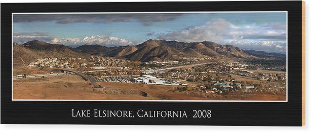 Landscape Wood Print featuring the photograph Lake Elsinore 2008 by Richard Gordon