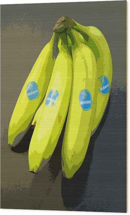 Fruit Wood Print featuring the painting Banana Republic by Marcello