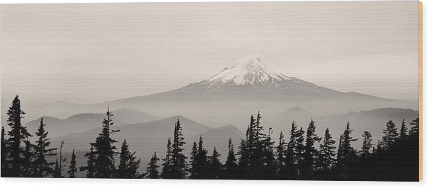 Mt. Hood Wood Print featuring the photograph Mt. Hood by Unknown