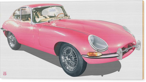 Car Posters Wood Print featuring the digital art Beauty In Pink by Jose Gomis