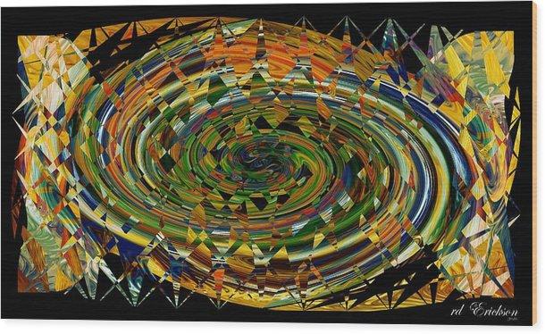 Rd Erickson Wood Print featuring the digital art Modern Art I by rd Erickson