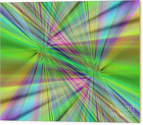Color Range ( Fa-008.ax Wood Print featuring the digital art Digital Art by Salah Galadi