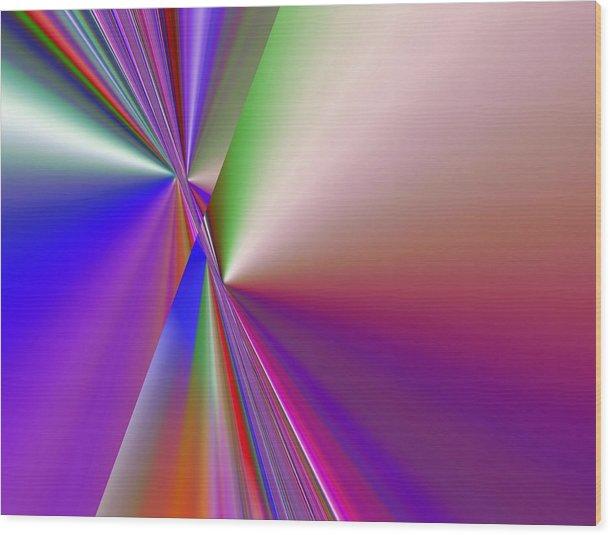 Color Range ( Sa-006.ax Wood Print featuring the digital art Digital Art by Salah Galadi