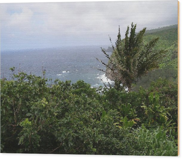Impressionism Wood Print featuring the painting Hilo Coast Hawaii by Don Phillips