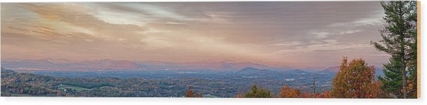Panoramic Wood Print featuring the photograph Roanoke Valley by Kevin Hurley