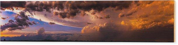 Nebraskasc Wood Print featuring the photograph Nebraska Hp Supercell Sunset by NebraskaSC