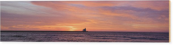 Lighthouse Wood Print featuring the photograph Wide Scene Format by Bill Pevlor