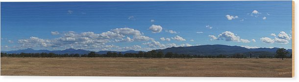Panorama Wood Print featuring the photograph A June Panorama In Southern Oregon by Mick Anderson