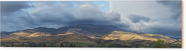 Panorama Wood Print featuring the photograph The Hills Of Ashland by Mick Anderson