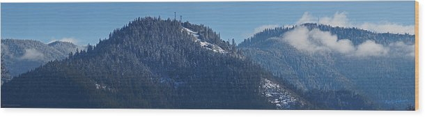 Panorama Wood Print featuring the photograph Winter And Mt Baldy Panorama by Mick Anderson