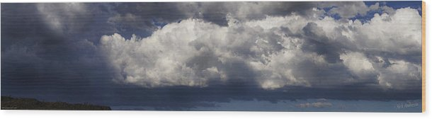 Panorama Wood Print featuring the photograph Stormy Skies Over Rogue Valley by Mick Anderson