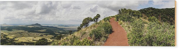 New Mexico Wood Print featuring the photograph Capulin Volcano View Panorama New Mexico by Lawrence S Richardson Jr