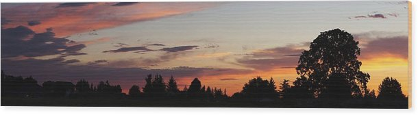 Molalla Wood Print featuring the photograph Sunset In Molalla by Angi Parks