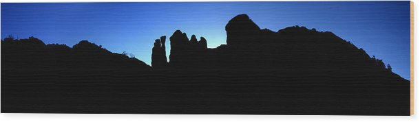 Sedona Wood Print featuring the photograph Back O' Beyond by David Sunfellow