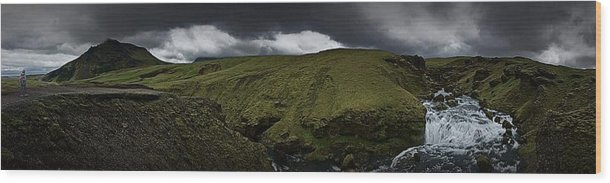 Iceland Wood Print featuring the photograph Iceland 1 by Jeff Watts
