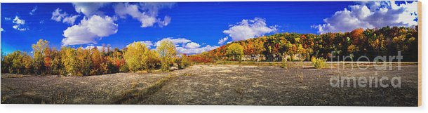 High Cliff Wood Print featuring the photograph Fall All Around by Ever-Curious Photography