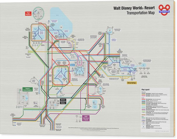 Walt Disney World Resort Transportation Map Wood Print on all-star disney hotel map, ireland transportation map, orlando transportation map, seattle transportation map, disney transportation chart, disney bus transportation map, disney transportation center map, disney all star movie resort map, australia transportation map, tokyo disneyland monorail map, walt disney hotel map, walt disney transportation map, disney's all-star sports resort map, washington transportation map, disney old key west resort map, world air route map, orlando florida map, downtown disney map, japan transportation map, virginia transportation map,