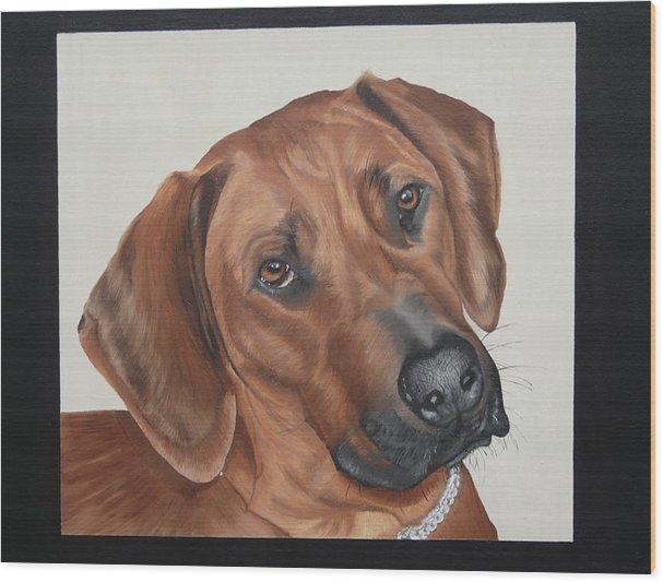 Ridgeback-dog Wood Print featuring the painting Lola by Judith Hoof van