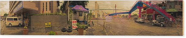 Philippine Police Wood Print featuring the photograph 6x1 Philippines Number 278 Police Panorama by Rolf Bertram
