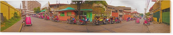 Philippines Wood Print featuring the photograph 6x1 Philippines Number 48 Panorama by Rolf Bertram