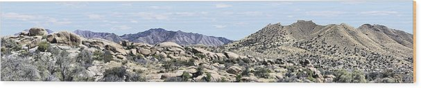Photography Wood Print featuring the photograph Dragoon Mountains Panorama by Sharon Broucek
