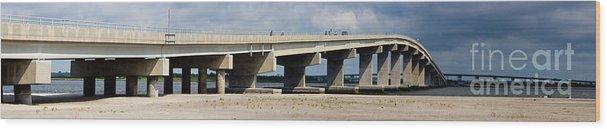 Bridge Wood Print featuring the photograph Longport Bridge by Tom Gari Gallery-Three-Photography