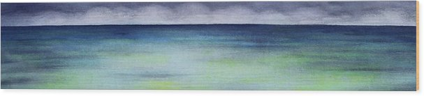 Hawaii Wood Print featuring the painting Kaaawa by Kevin Smith