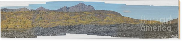 Landscape Wood Print featuring the photograph On The Matanuska Glacier by Ron Bissett