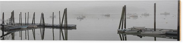 Coastal Wood Print featuring the photograph Wiscasset Morning by Mark Schumpert