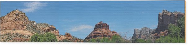 Sedone Wood Print featuring the photograph Sedona Rocks 2 by Paulina Roybal