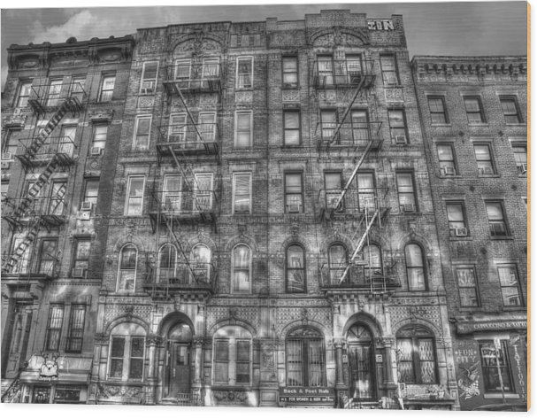 Led Zeppelin Physical Graffiti Building in Black and White by Randy Aveille