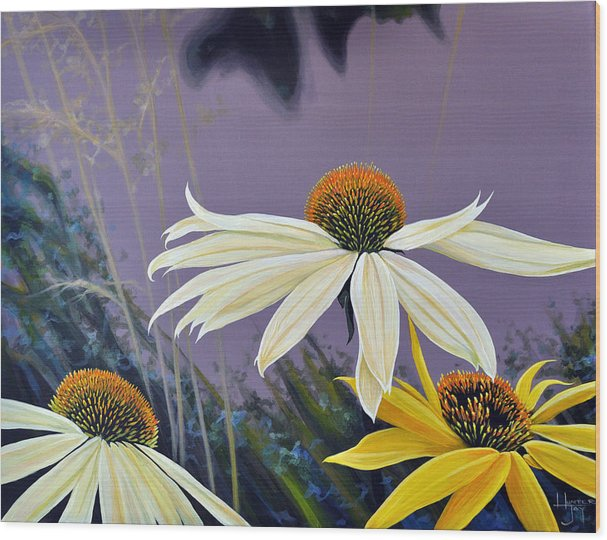 Botanical Wood Print featuring the painting Jubilant by Hunter Jay