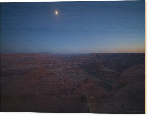 U.s.a. Wood Print featuring the photograph Dead Horse Point by Luigi Barbano BARBANO LLC
