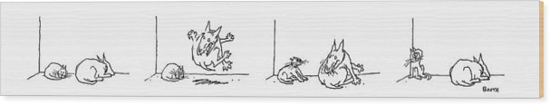 Animals Wood Print featuring the drawing Series by George Booth
