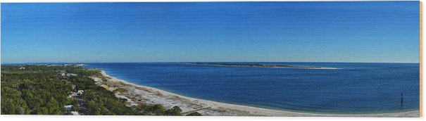 Pensacola Wood Print featuring the photograph Pensacola Panorama by Maggy Marsh