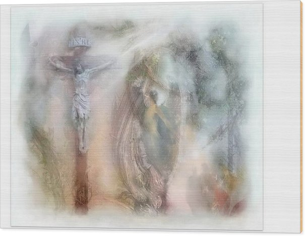 Beauty Wood Print featuring the mixed media Angels Commanded To Worship Him. by Freddy Kirsheh