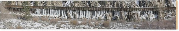 Truckee River Wood Print featuring the photograph Truckee River Flumes by Edward Hass