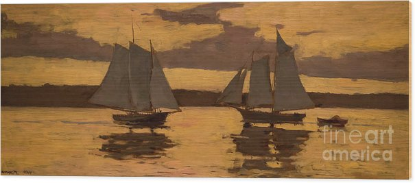 Gloucester, Mackerel Fleet at Sunset,  1884 by Winslow Homer
