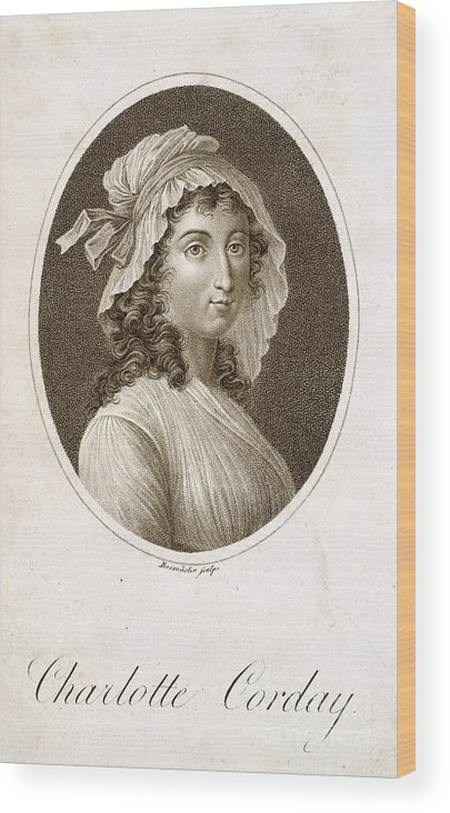 French Revolution Wood Print featuring the photograph Charlotte Corday by British Library