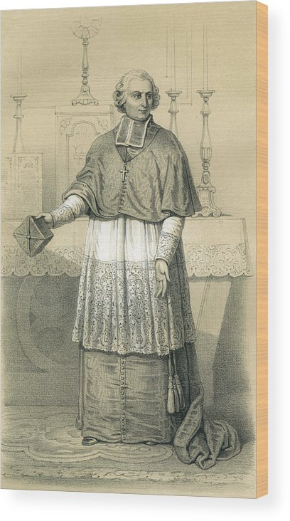 Maury Wood Print featuring the drawing Jean-siffrein Maury French Priest by Mary Evans Picture Library