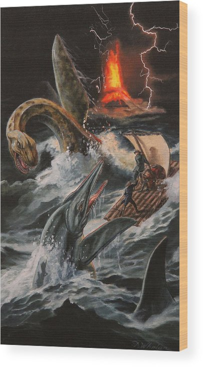 Whelan Wood Print featuring the painting Journey To The Center Of The Earth by Patrick Whelan