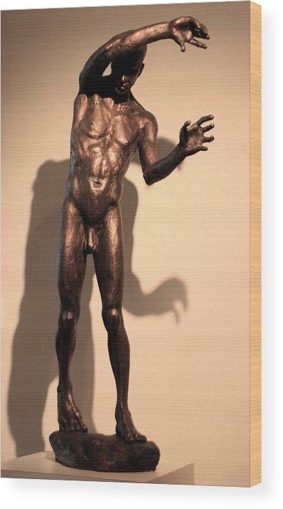 Bronze Sculpture Wood Print featuring the sculpture Maestro by Dan Earle